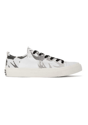 McQ Alexander McQueen White and Black McQ Swallow Plimsoll Sneakers