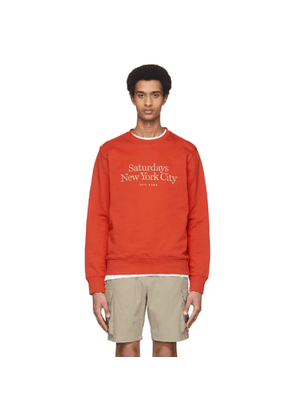 Saturdays NYC Red Bowery Miller Standard Sweatshirt