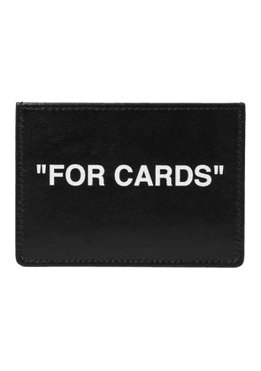 Quote leather cardholder