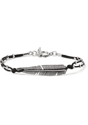 Isabel Marant - Silver-Tone and Cord Bracelet - Men - Silver