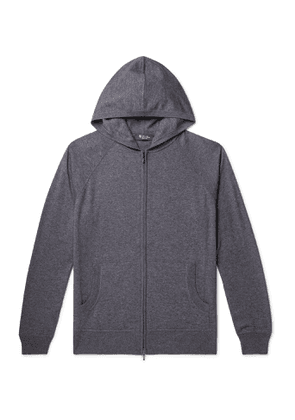 Loro Piana - Portland Mélange Cashmere and Silk-Blend Zip-Up Hoodie - Men - Gray