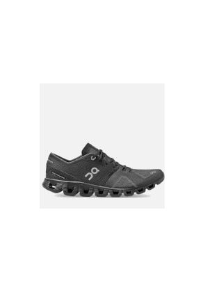 ON Men's Cloud X Running Trainers - Black/Asphalt - UK 8