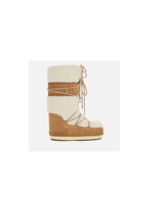 Moon Boot Women's Wool Boots - Sand/Off White - EU 39-41