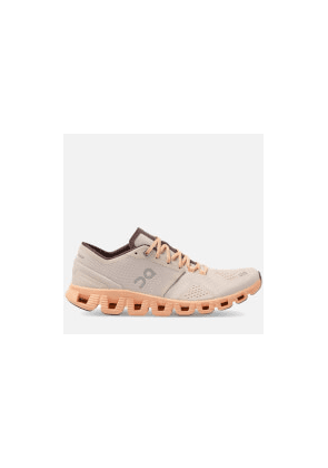 ON Women's Cloud X Running Trainers - Silver/Almond - UK 4
