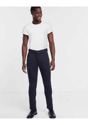 Selected Homme skinny fit jersey trousers formal trousers-Navy