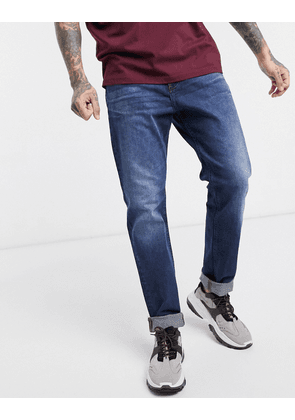 Dr Denim James relaxed tapered jeans-Blue