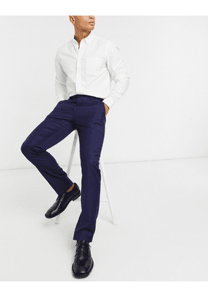 Ted Baker Corkt slim fit timeless plain smart trousers-Navy