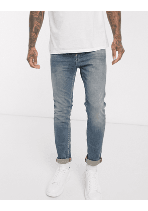 Selected Homme slim stretch fit LEON jeans-Blue