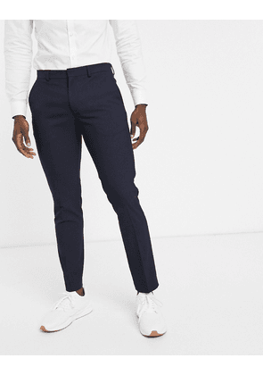 Selected Homme slim fit tuxedo trousers in navy