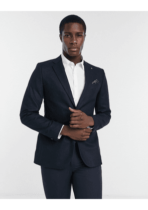 Ted Baker Matza slim fit core wool blazer-Navy