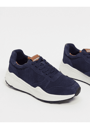 Steve Madden chunky sole trainers in navy suede