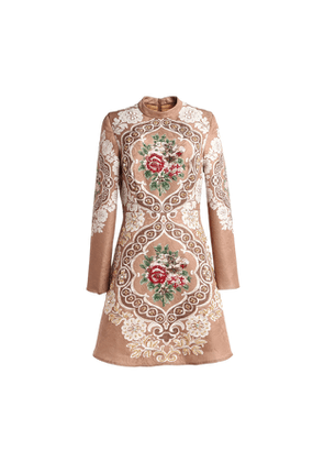 Comino Couture London Rose Gold Skater Dress