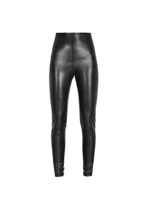 Saint Laurent Black Latex Leggings