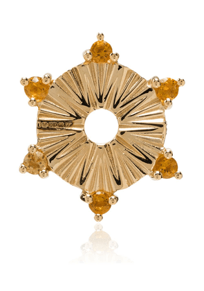Foundrae 18kt gold small yellow citrine disk