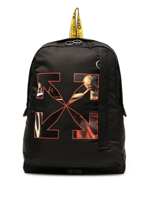 Off-White Caravaggio arrow logo backpack - Black