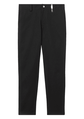Burberry logo plaque trousers - Black