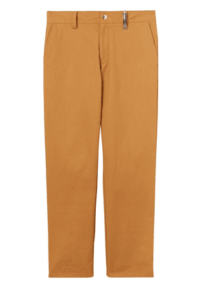 Burberry logo plaque trousers - Brown