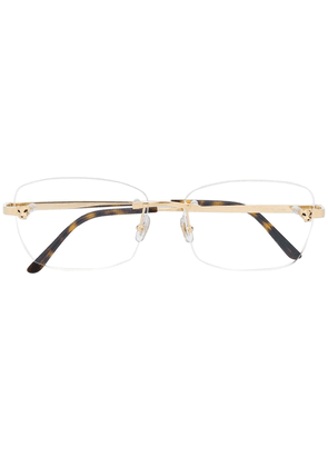 Cartier Eyewear Rectangular lens glasses - GOLD