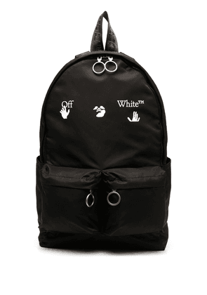 Off-White logo-print backpack - Black