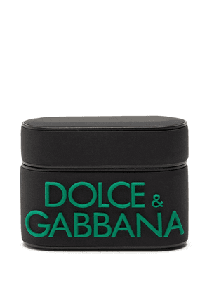 Dolce & Gabbana logo-detail rubber airpods pro case - Black