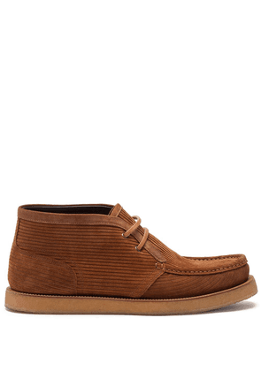 Dolce & Gabbana corduroy lace-up Desert boots - Brown