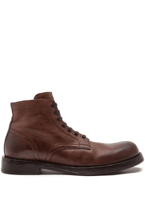 Dolce & Gabbana lace-up ankle boots - Brown