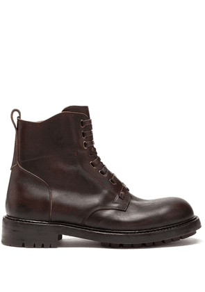 Dolce & Gabbana cowhide lace-up ankle boots - Brown