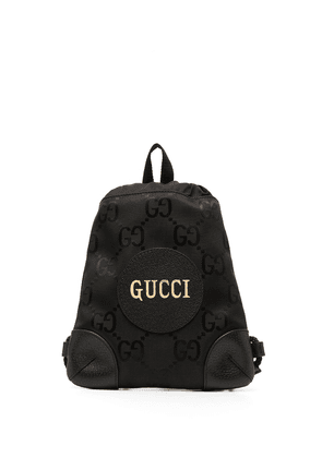 Gucci GG supreme drawstring backpack - Black