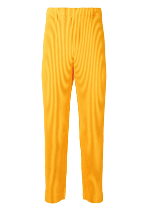 Homme Plissé Issey Miyake pleated straight trousers - Yellow