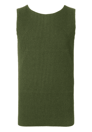 Homme Plissé Issey Miyake ribbed tank top - Green