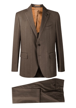 Gabriele Pasini striped two-piece wool suit - Brown