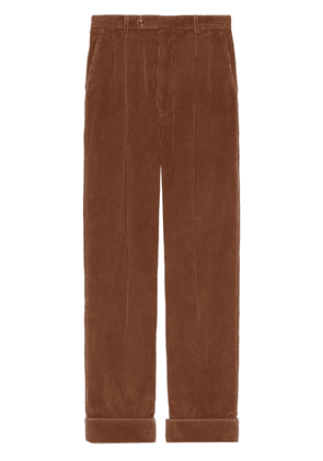 Gucci regular-fit corduroy trousers - Brown