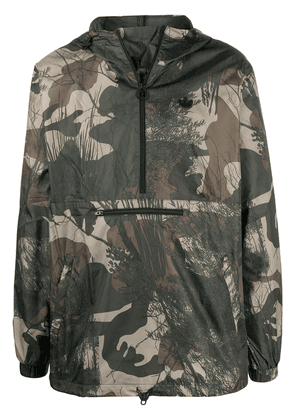 adidas camouflage-print jacket - Green