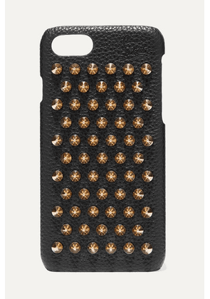 Christian Louboutin - Loubiphone Embellished Textured-leather Iphone 7 And 8 Case - Black
