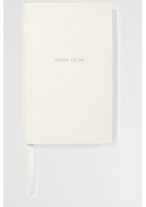 Smythson - Panama Bride To Be Textured-leather Notebook - White