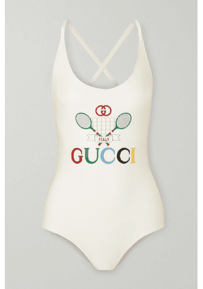 Gucci - Embroidered Stretch Bodysuit - Ivory
