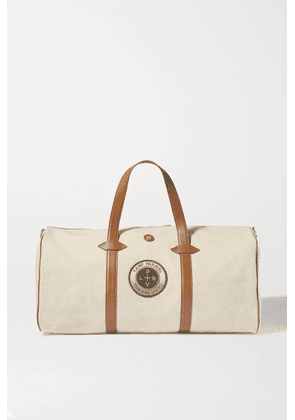 Paravel - + Space For Giants Main Line Duffel Appliquéd Leather-trimmed Canvas Weekend Bag - Tan
