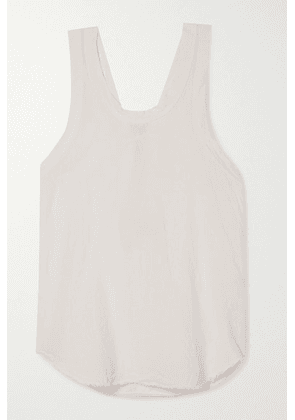 Bassike - Organic Cotton-trimmed Frayed Linen-jersey Tank - White