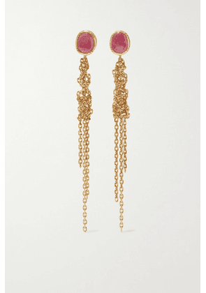 Brooke Gregson - Waterfall 18-karat Gold Sapphire Earrings