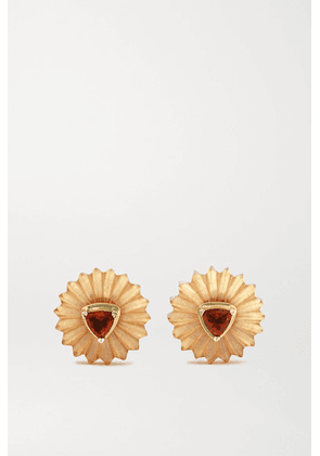 Alice Cicolini - Summer Snow 9-karat Gold, Citrine And Garnet Earrings