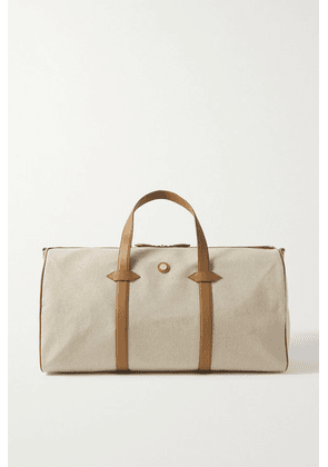 Paravel - Main Line Duffel Leather-trimmed Canvas Weekend Bag - Cream