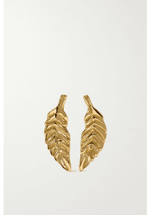 Brooke Gregson - Leaf 18-karat Gold Earrings