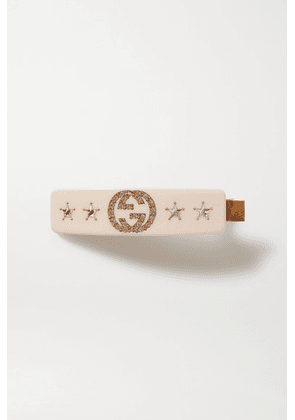Gucci - Embellished Resin Hair Clip - Cream
