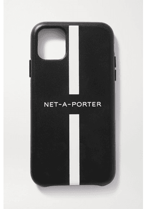 NET-A-PORTER - + The Daily Edited Printed Leather Iphone 11 Pro Case - Black
