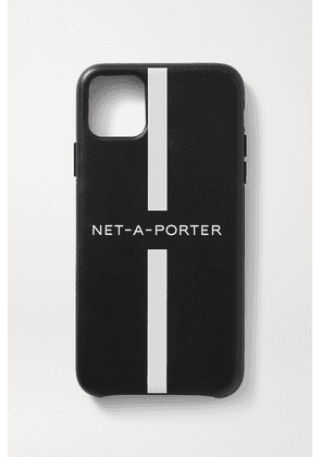 NET-A-PORTER - + The Daily Edited Printed Leather Iphone 11 Pro Max Case - Black