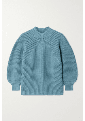 APIECE APART - Nueva Merel Ribbed Cotton And Cashmere-blend Sweater - Blue