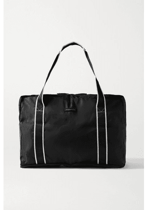 Paravel - Fold-up Leather And Grosgrain-trimmed Shell Weekend Bag - Black