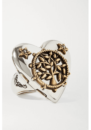 Alexander McQueen - Heart Silver And Gold-tone Crystal Ring