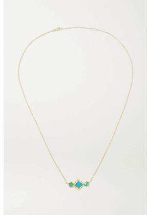 Brooke Gregson - Orbit 3 18-karat Gold Multi-stone Necklace