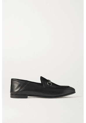 Gucci - Brixton Horsebit-detailed Leather Collapsible-heel Loafers - Black